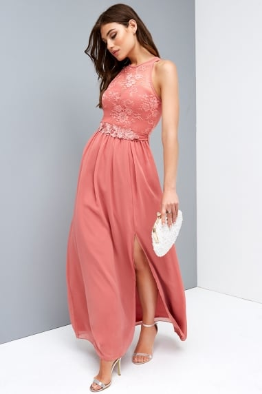 Rose Lace Maxi Dress
