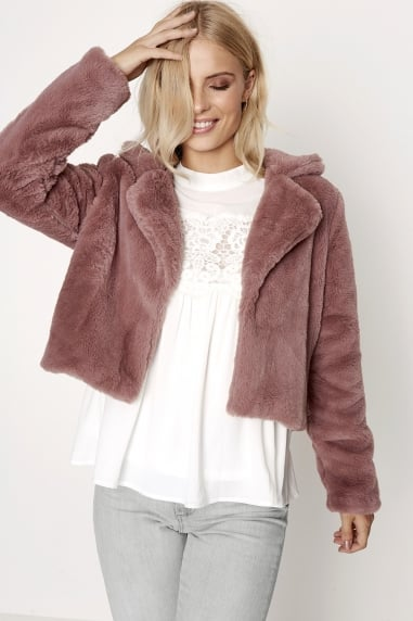 Rose Fur Jacket