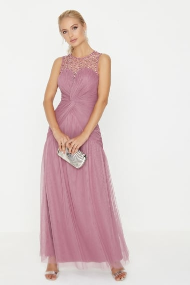 Rose Knot Waist Maxi Dress