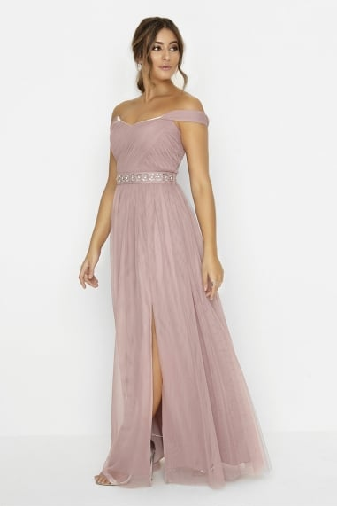 Blush Jewel Waist Maxi
