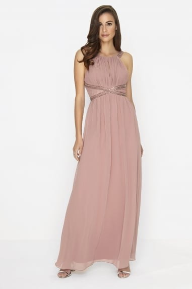 Rose Embellished Panel Maxi