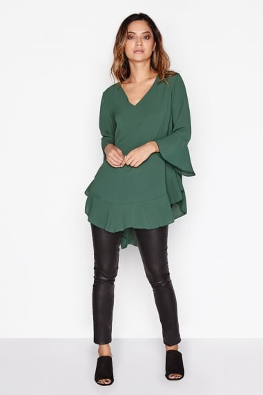 Emerald Frill Top
