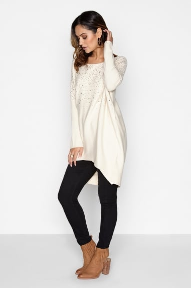 Cream Bead Jumper