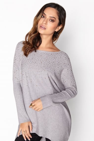 Grey Bead Jumper