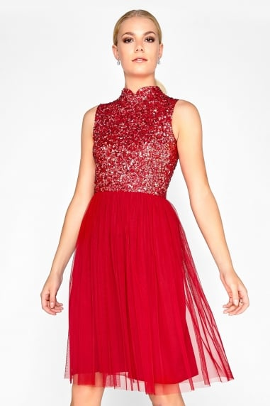 Red Sequin Prom