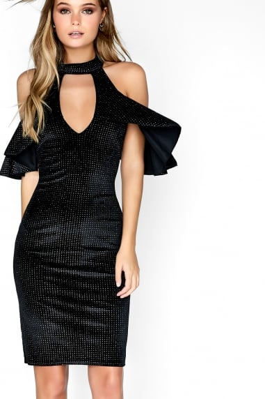 Disco Velvet Bodycon Dress