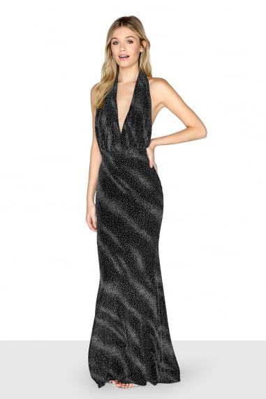 Black Lurex Maxi Dress