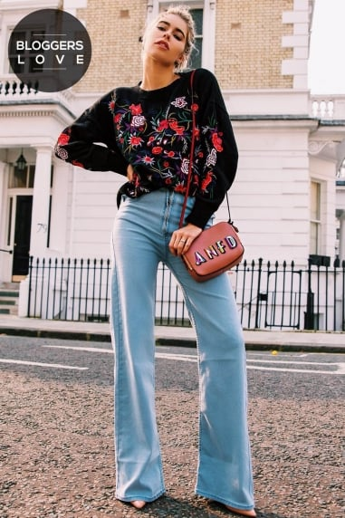 Embroidered Floral Jumper