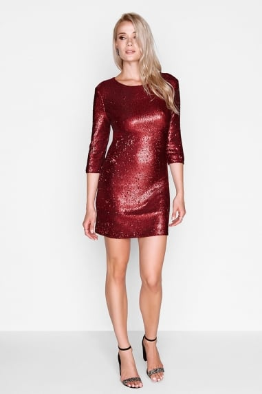 Red Sequin Bodycon