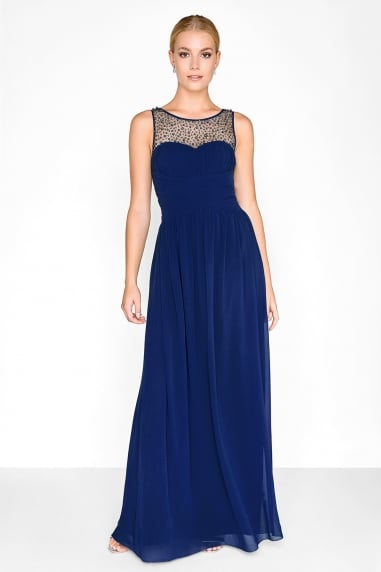 Grace Sweetheart Maxi Dress With Embellishment