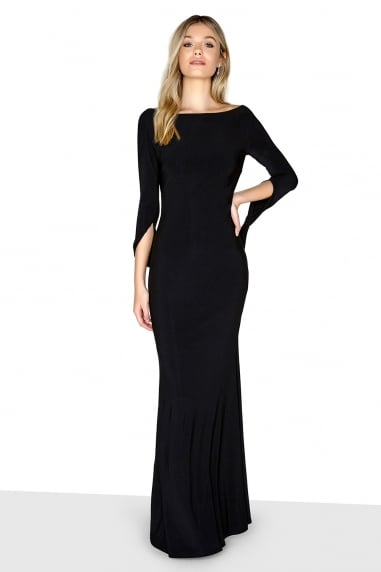 Black Long Sleeve Maxi