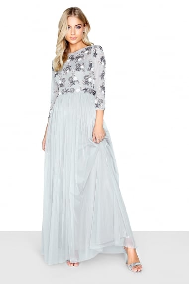 Amanda Grey Embellished Floral Maxi Dress