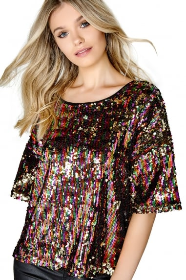 Disco Sequin Top