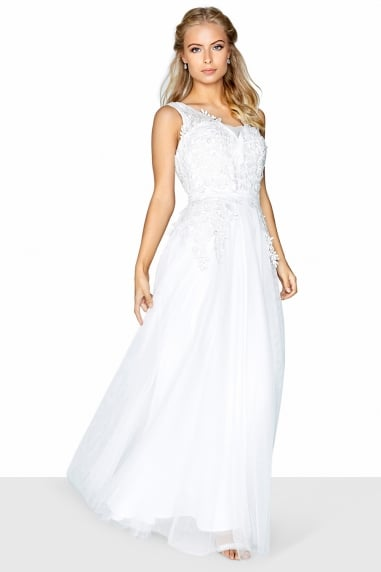 Applique Bridal Dress