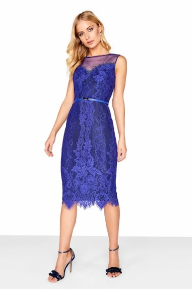 Cobalt Lace Bodycon