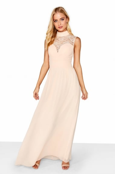 59940da1a9b Nude Lace Yoke Maxi · Outlet Little Mistress ...