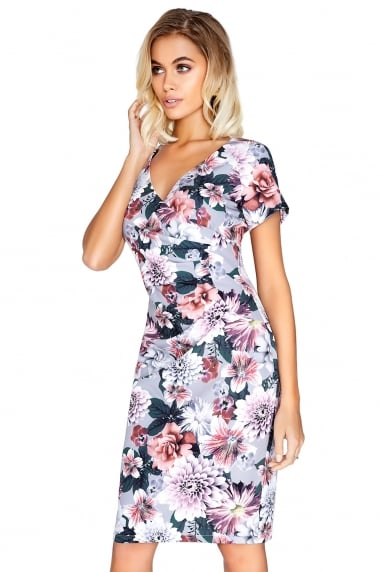 Floral Gathered Dress