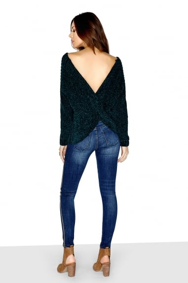 Emerald Green Knot Back Jumper