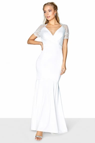 Rachel Wrap Fishtail Bridal Dress