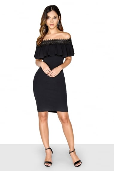 Trim Bardot Dress