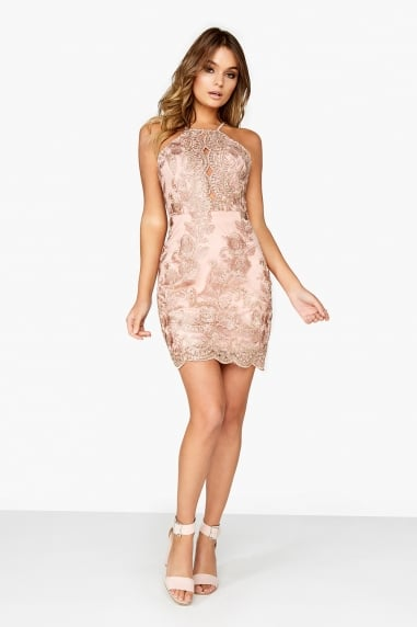 Pink Lace Bodycon