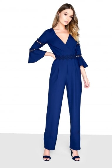 Navy Trim Jumpsuit