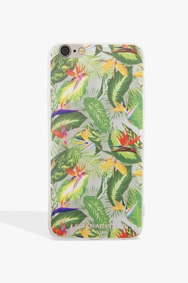 Green Leaf Print Case Iphone 7