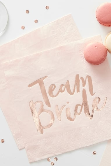 'Team Bride' Paper Napkins