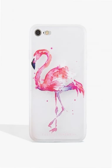 Blue and Pink Flamingo Case Iphone 7