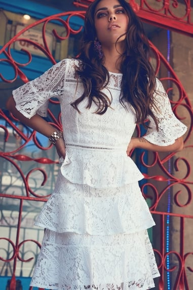 White Frill Dress