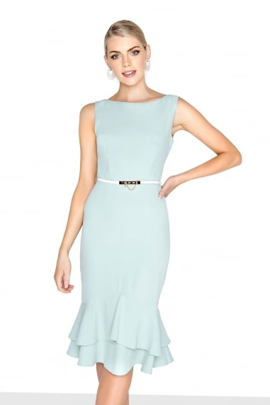 Mint Peplum Dress