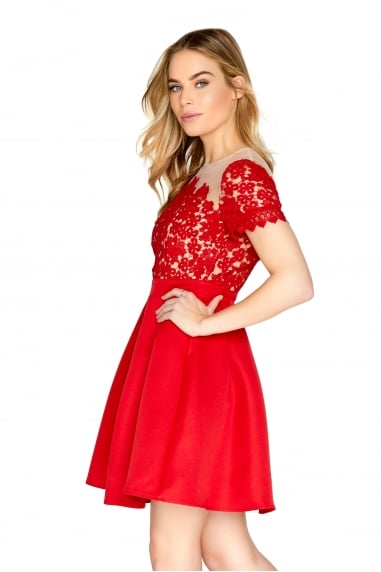 Red Crochet Prom Dress