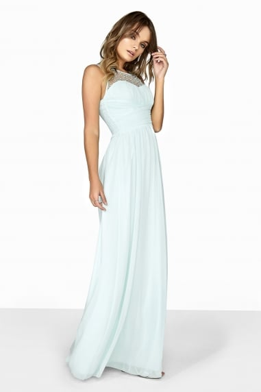 Seafoam Embellished Maxi Dress