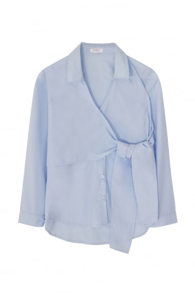 Blue Wrap Shirt