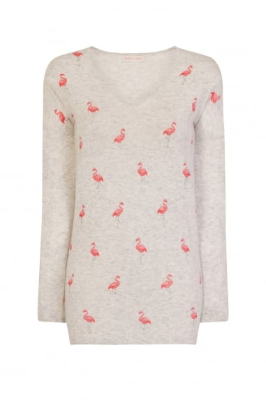 Grey Flamingo Jumper