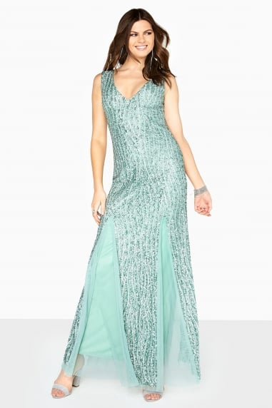 Sage Sheath Maxi Dress