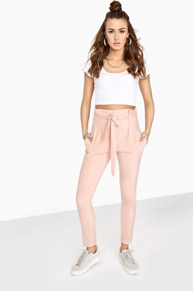 Blush Tie Trousers