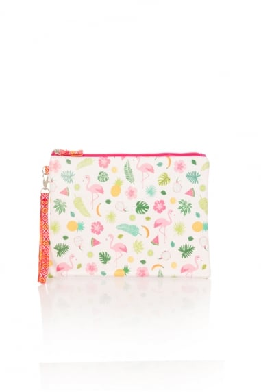 Tropical Flamingo Clutch