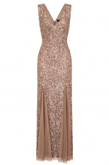 Taupe Sheath Maxi