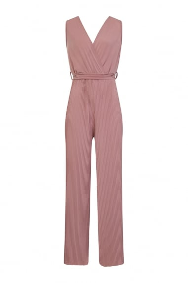 Blush Pleated Jumpsuit