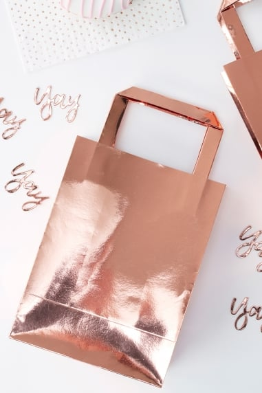 Rose Gold Party Bags