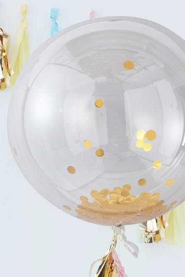 Large Gold Confetti Balloons