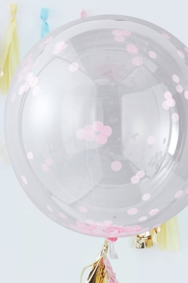 Large Pink Confetti Balloons