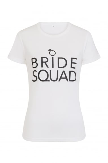 'Bride Squad' White T-Shirt