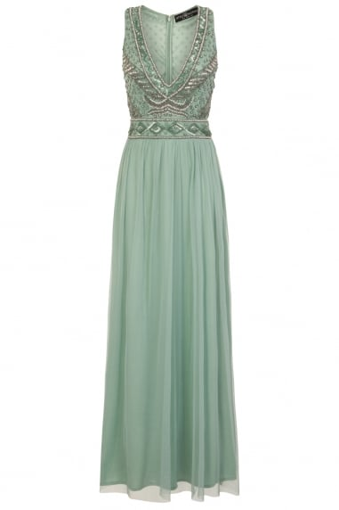 Sage Embellished Dress