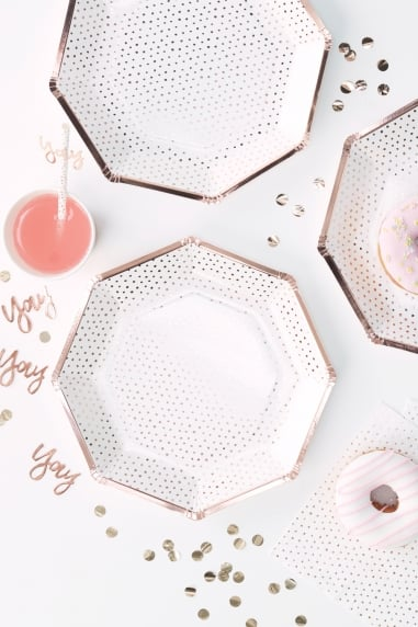 Rose Gold Spotty Plate - need images