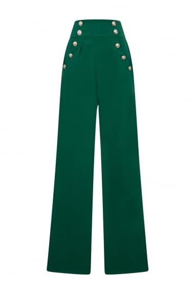 Green High Waist Trouser