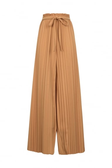 Mustard Pleated Trouser