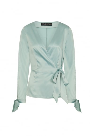 Spearmint Satin Top