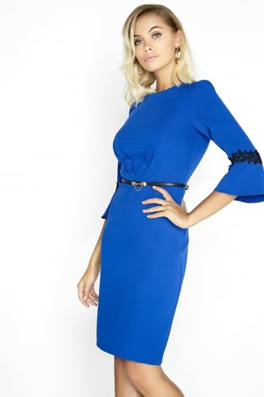 Cobalt Pleat Dress